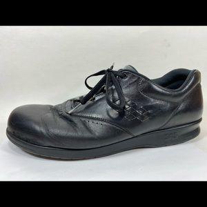 SAS Free Time Black Leather Oxfords Sz 12 Narrow